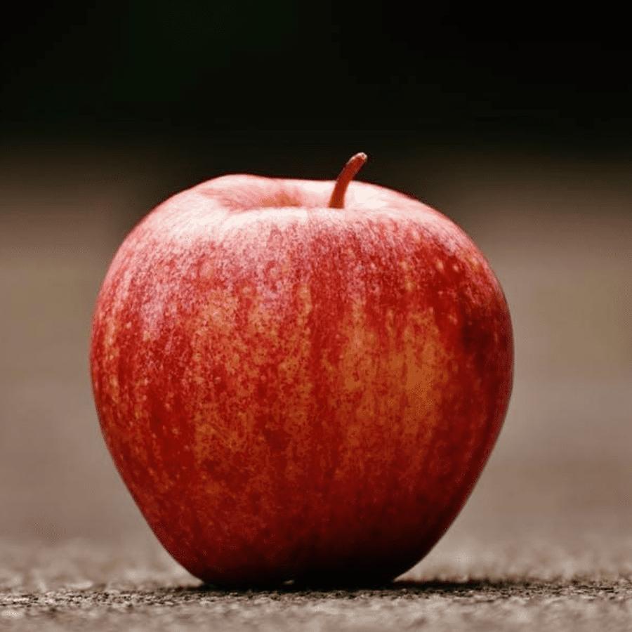 Large juicy red apple